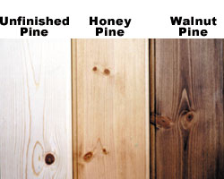 wood type choose ponderosa pine or clear red oak see samples below