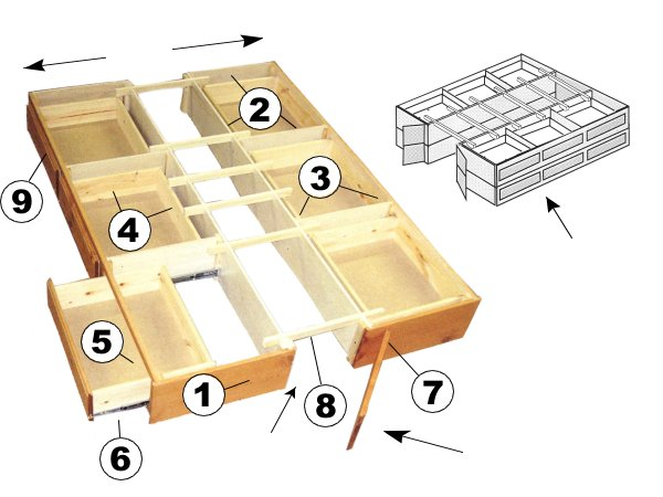 Plans For Beds With Drawers