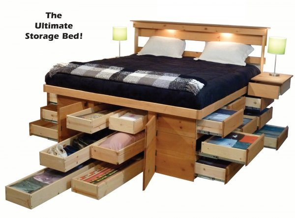 New King Bed Frame With Storage Exterior